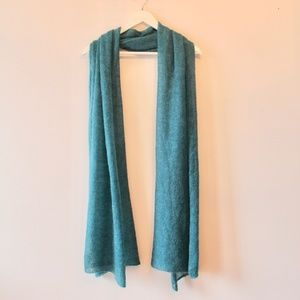 Accessories - Soft Knit Turquoise Scarf / Shawl